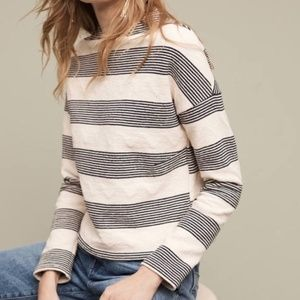 Anthropologie Eri + Ali Texture Stripe Sweater M